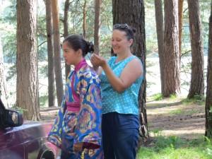 перед выступлением в лагере